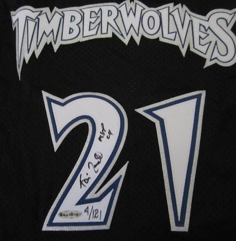 promo code dd503 8cf83 Kevin Garnett Signed 2004 MVP Jersey UDA LE 4/121 | All Star ...