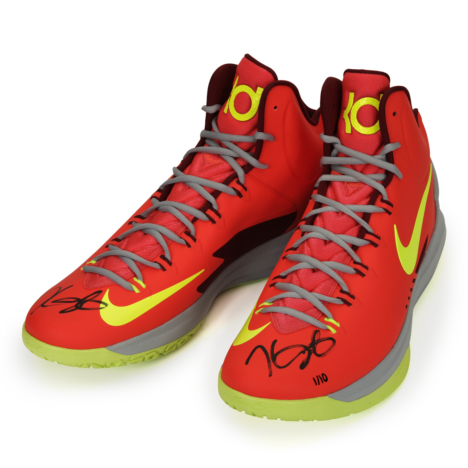 8355641daa18 Kevin Durant Autographed Zoom V Crimson Shoes ~Limited to 10~