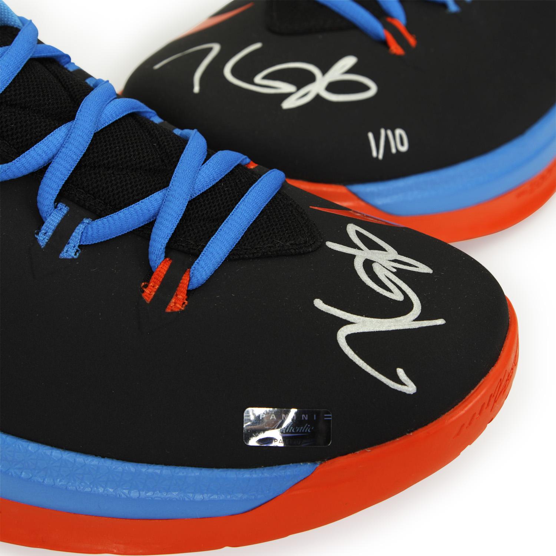 d2cb765d7789 Kevin Durant Autographed Zoom V Black   Orange Shoes ~Limited to 10 ...